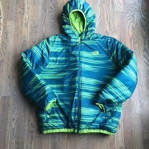 The North Face reversible puffer jacket boys XL